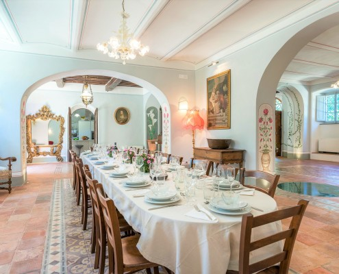 Elegan dinner Tuscany Cortona