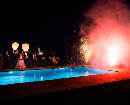 Pool Party Wedding Tuscany